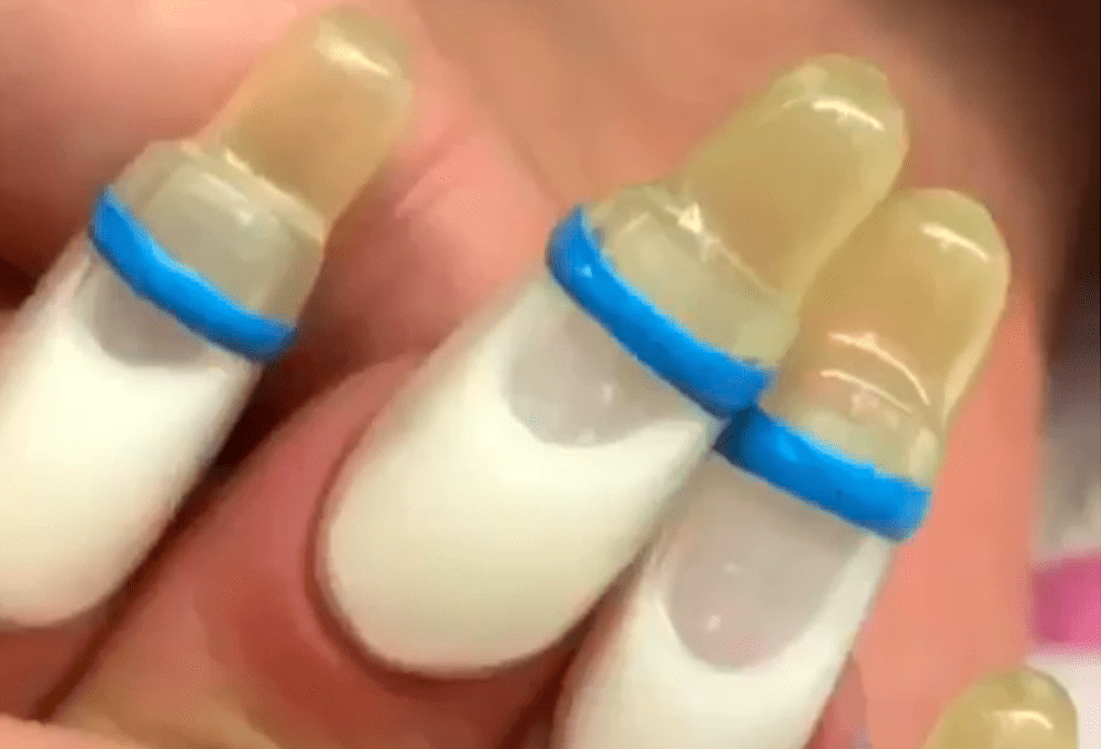 Baby Bottle Nail Manicure Simplemost Crazy Nail Designs Crazy Nails Nail Shapes