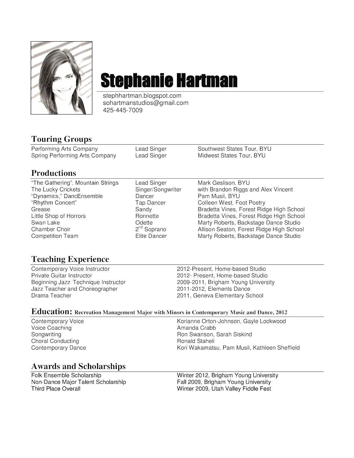 Resume Examples Byu Resume examples, Teacher resume