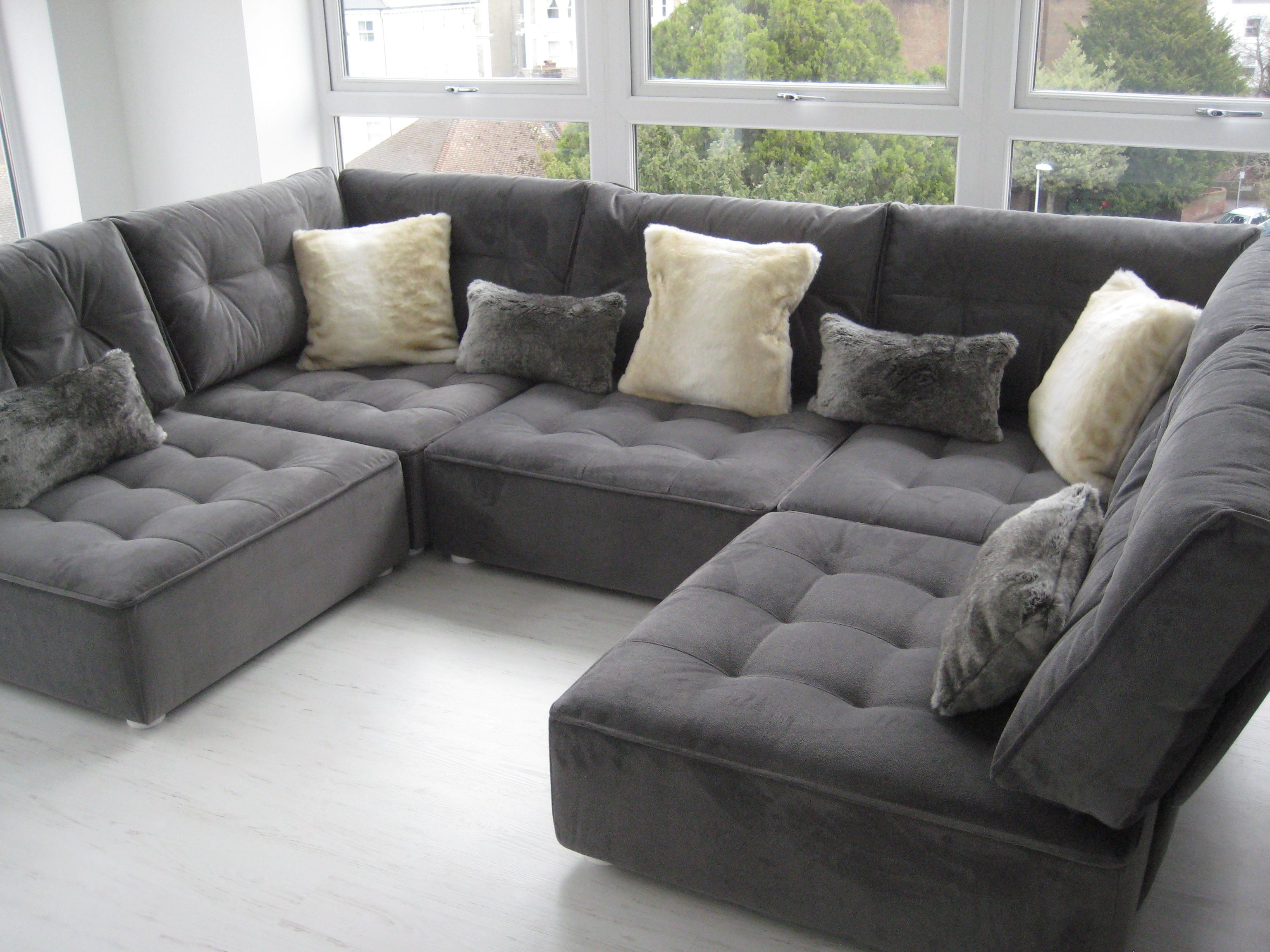 Lush Flexible Modular Open Plan Space Lounging The Fabric Is Houles Dandy Snakeskin Fabric With F Modern Sofa Living Room Relaxation Room Built In Sofa