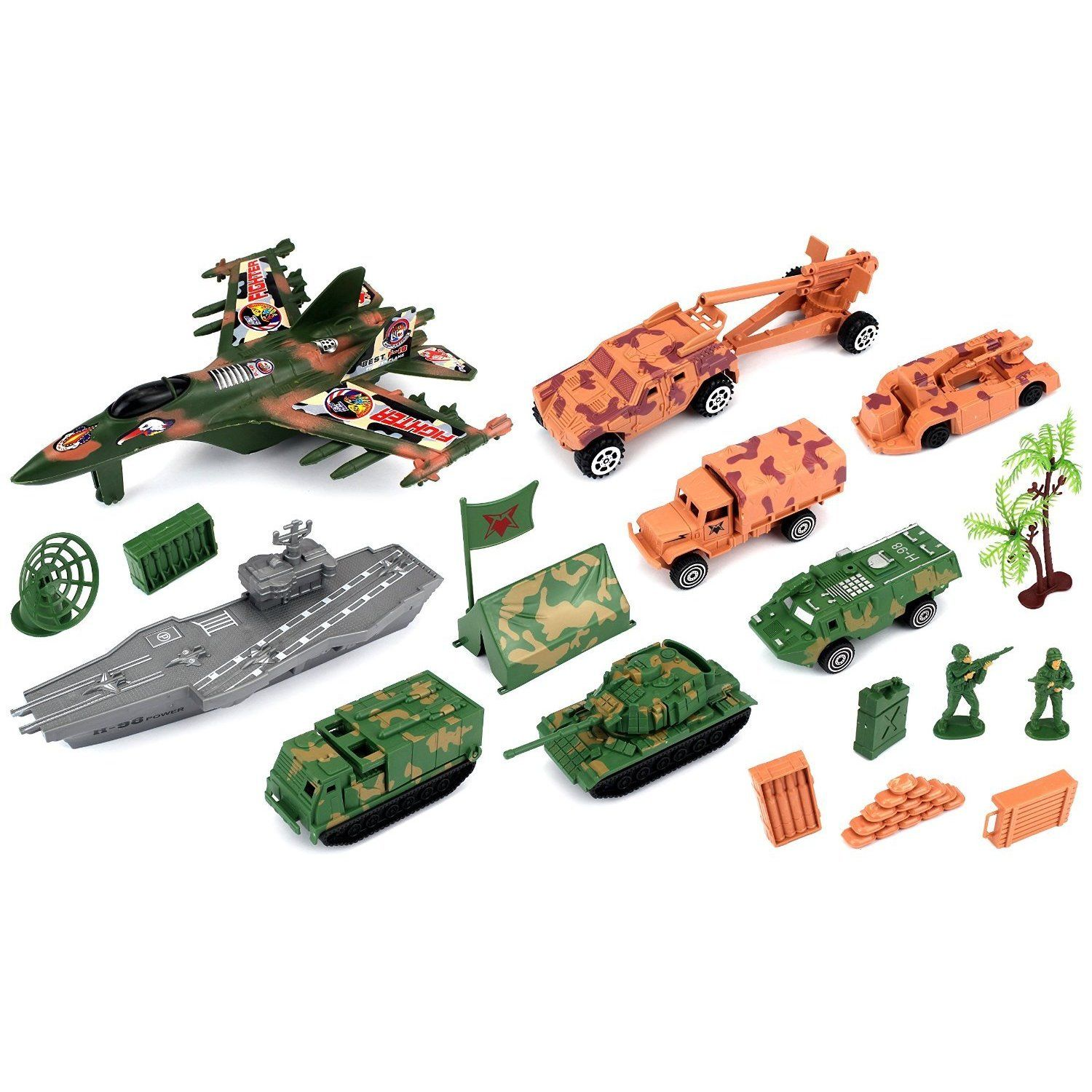 Velocity Toys Special Forces Army Territory Toy Vehicle Playset