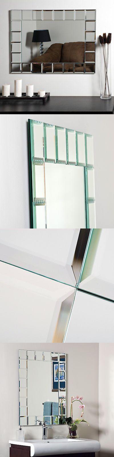 Mirrors 20580 Decor Wonderland Montreal Modern Frameless Bathroom Mirror