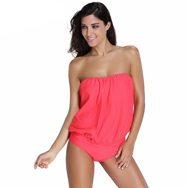 5a2a4ddf799 Debra - Strapless Lateral Ribbon Tankini | Fashion/Clothes | Bandeau ...