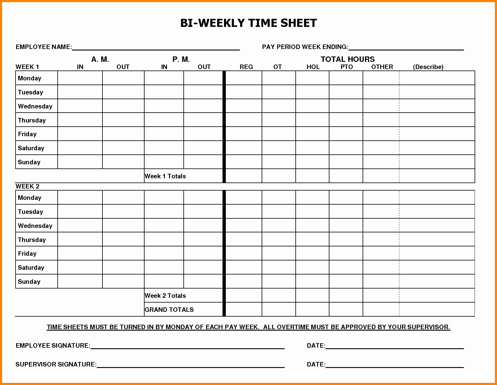 The Astonishing 009 Free Printable Bi Weekly Time Sheets Biweekly Pdf Forms Within Weekly Time Card Te Time Sheet Printable Timesheet Template Invoice Template