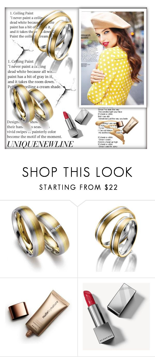 """""""UNIQUENEWLINE 9"""" by ramiza-rotic ❤ liked on Polyvore featuring Nude by Nature and Burberry"""