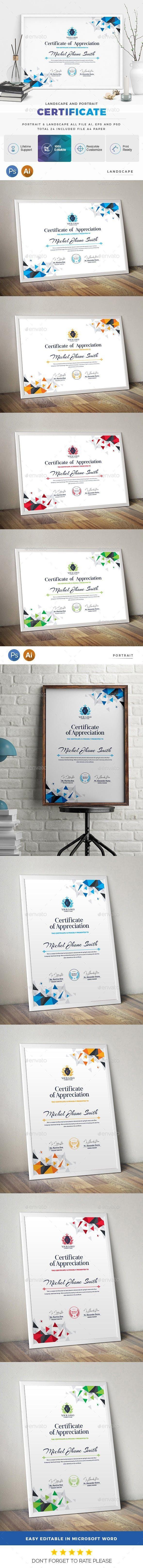 Certificate #CertificateDesign #GraphicResource #PrintDesign #Envato #Stationery...
