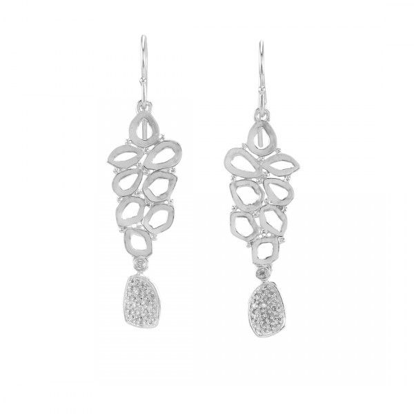 Melinda Maria Pia Drop Earrings-Silver