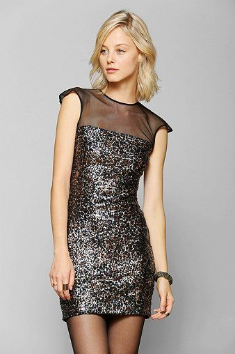 Dress The Population Aubrey Sequin Bodycon Dress