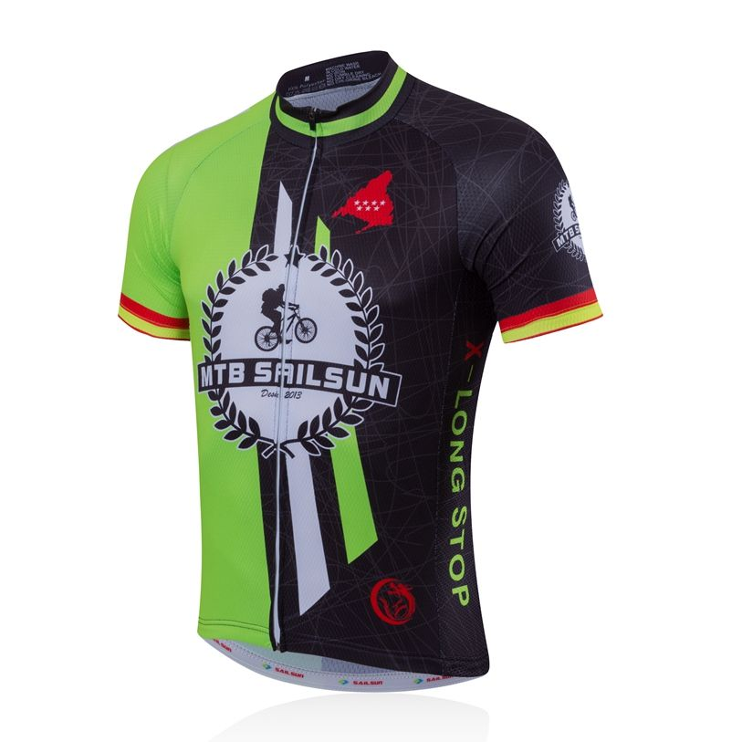 HOT SAIL SUN Men Pro Cycling Jersey Top Green Black Team Bicycle Clothing  mtb Summer Bike Shirts Jacket Breathable  Affiliate bc2c6172c