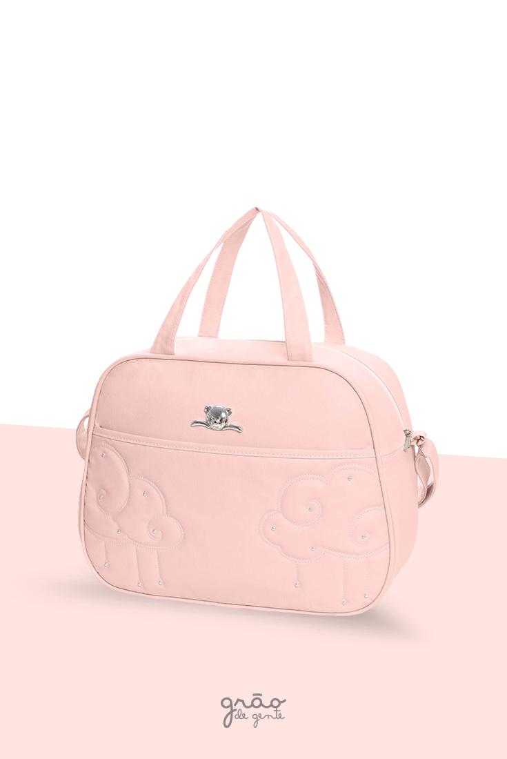 44f9c256c Quero uma para guardar tudinho da minha princesa! A Bolsa Maternidade G  Nuvem cor Rosa