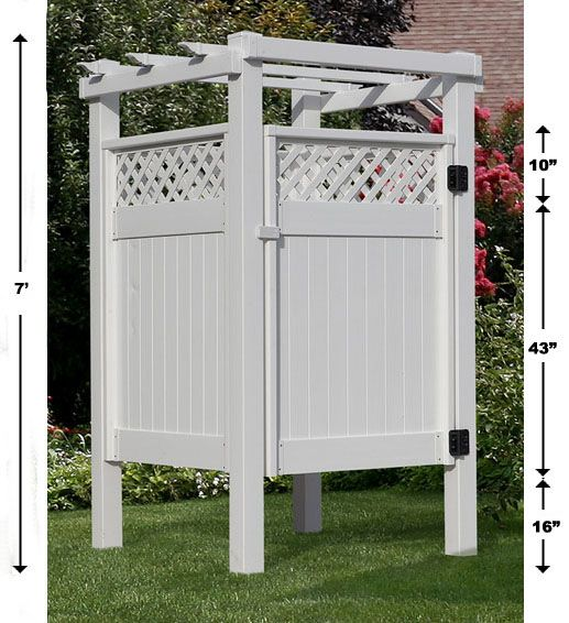 Simple Outdoor Shower Plans Outdoor Shower Enclosure Shower Stall