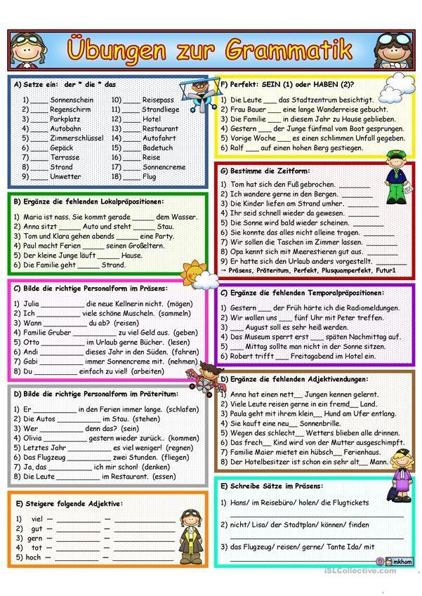Ασκηση Γραμματικής & Επανάληψη 1 | DİLLER | Pinterest | Grammatik ...