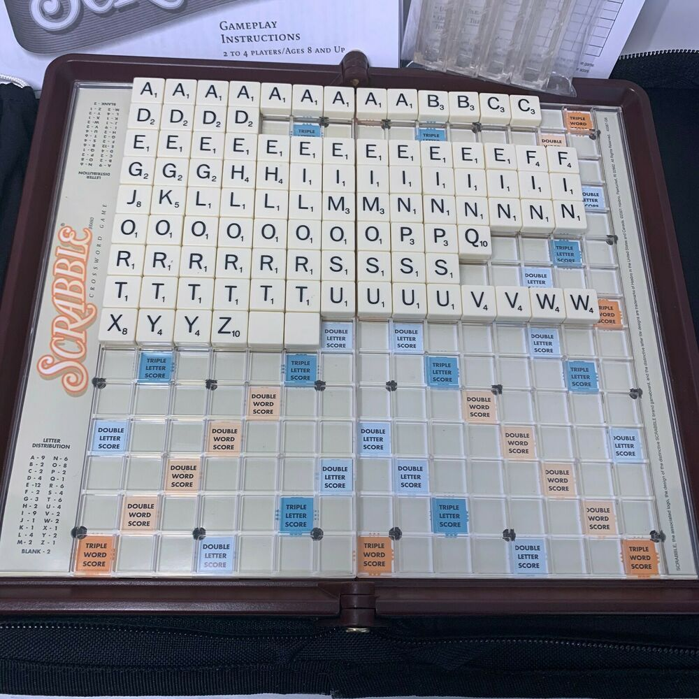 Scrabble Travel Folio Game Replacement Pieces W Snap Letter Tiles 2001 You Pick Hasbro Snap Letters Lettering Selling On Ebay