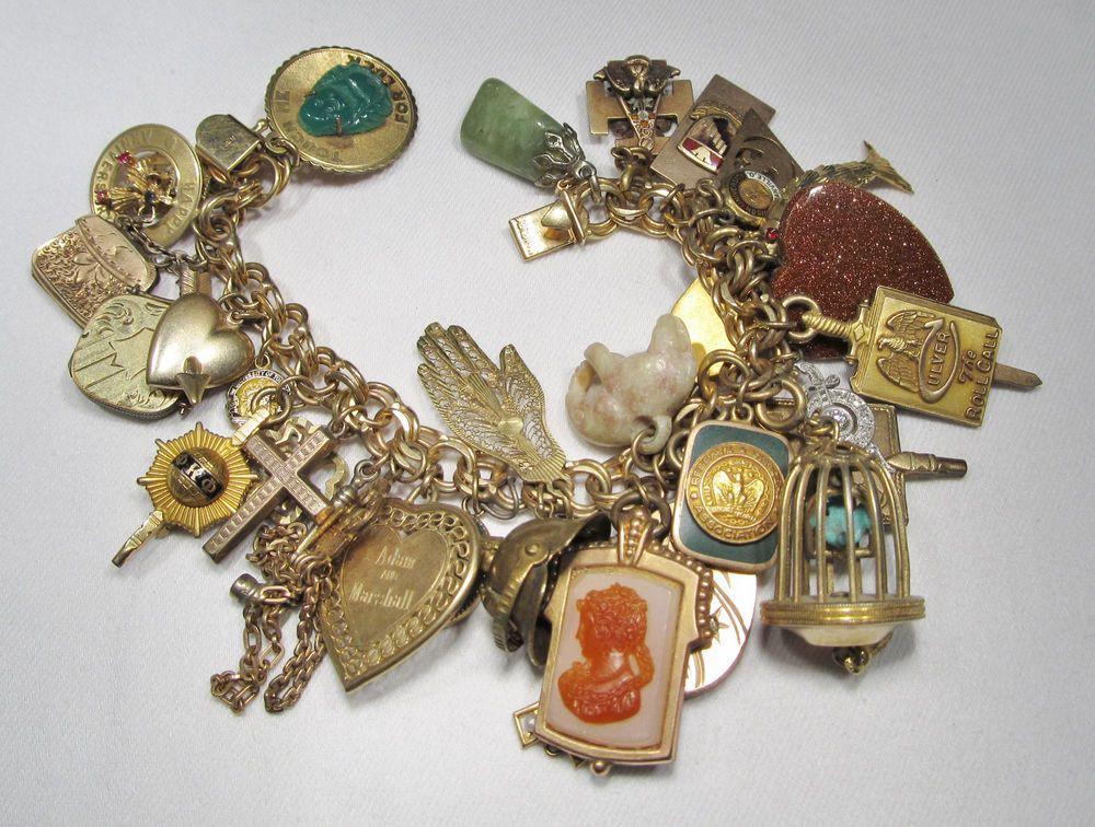 10k Gold Charm Bracelet