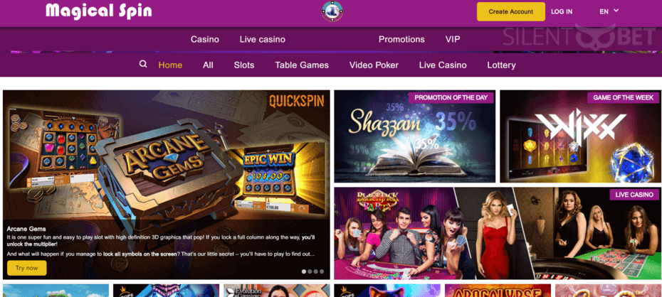 Magical Spin Casino Review Learn All You Need To Know About The Games Bonuses And Online Slot Machines Magicalspin Cas Casino Casino Games Magical