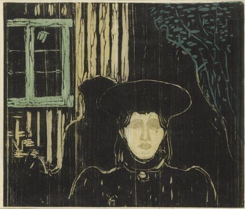 Edvard Munch Moonlight 1896 Jugendstil Symbolism Pinterest