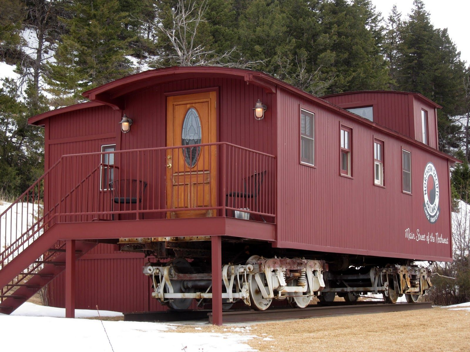 Pin By Curt Robbins On Cabins Cottages Bungalows Caboose Hut House Tiny House Cabin