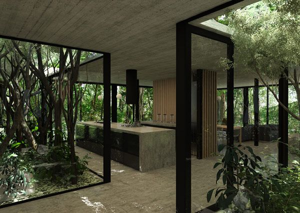 A Glass House By Luciano Kruk Modernes Haus Innenarchitektur