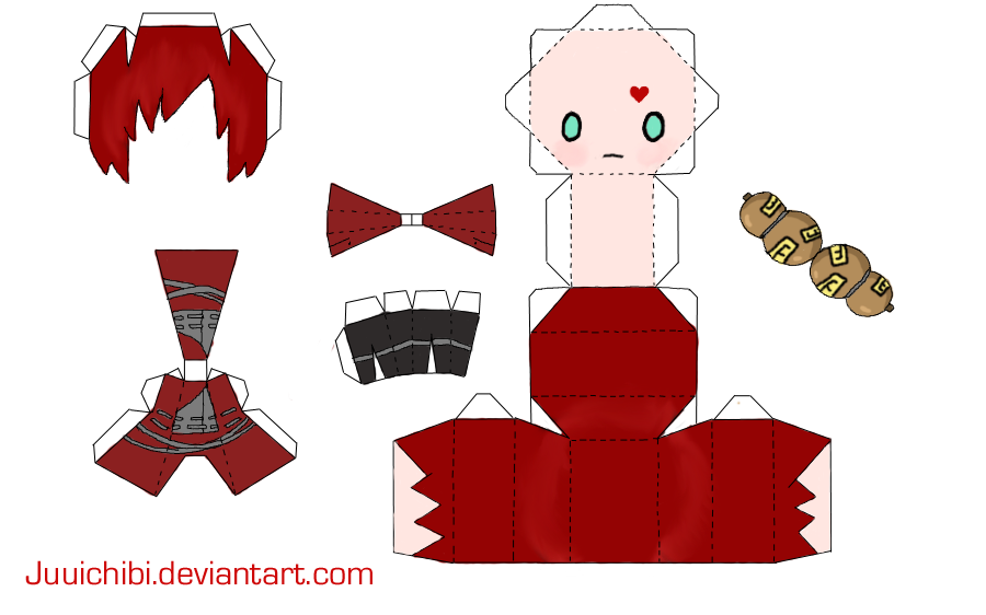 Gaara Papercraft By Juuichibi On Deviantart  Naruto Projects