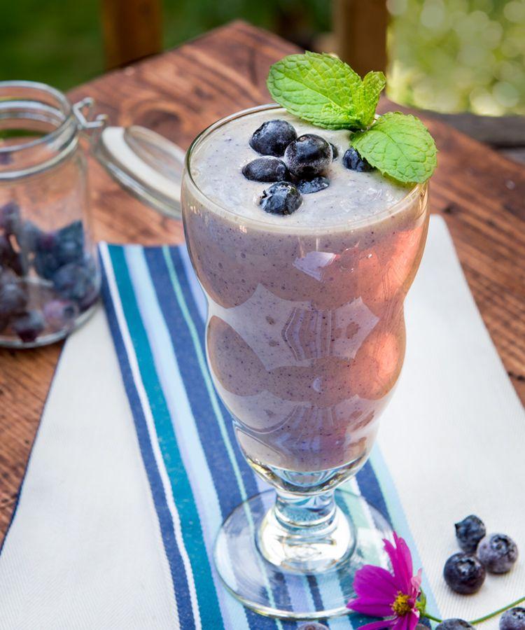 Blueberry coconut smoothie recipe milk smoothie