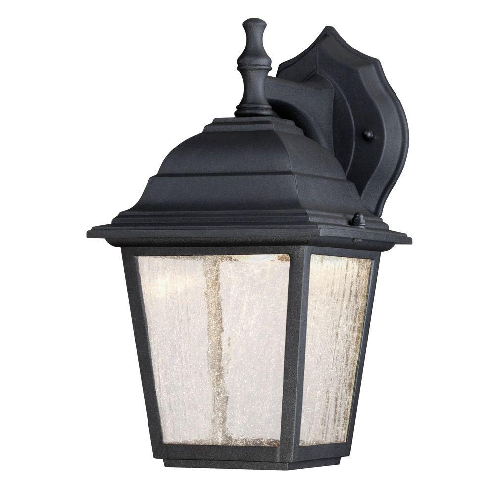 Westinghouse Wall Mount Led Outdoor Black Cast Aluminum Lantern 6400100 The Home Depot Wall Lantern Outdoor Wall Lantern Wall Mount Lantern