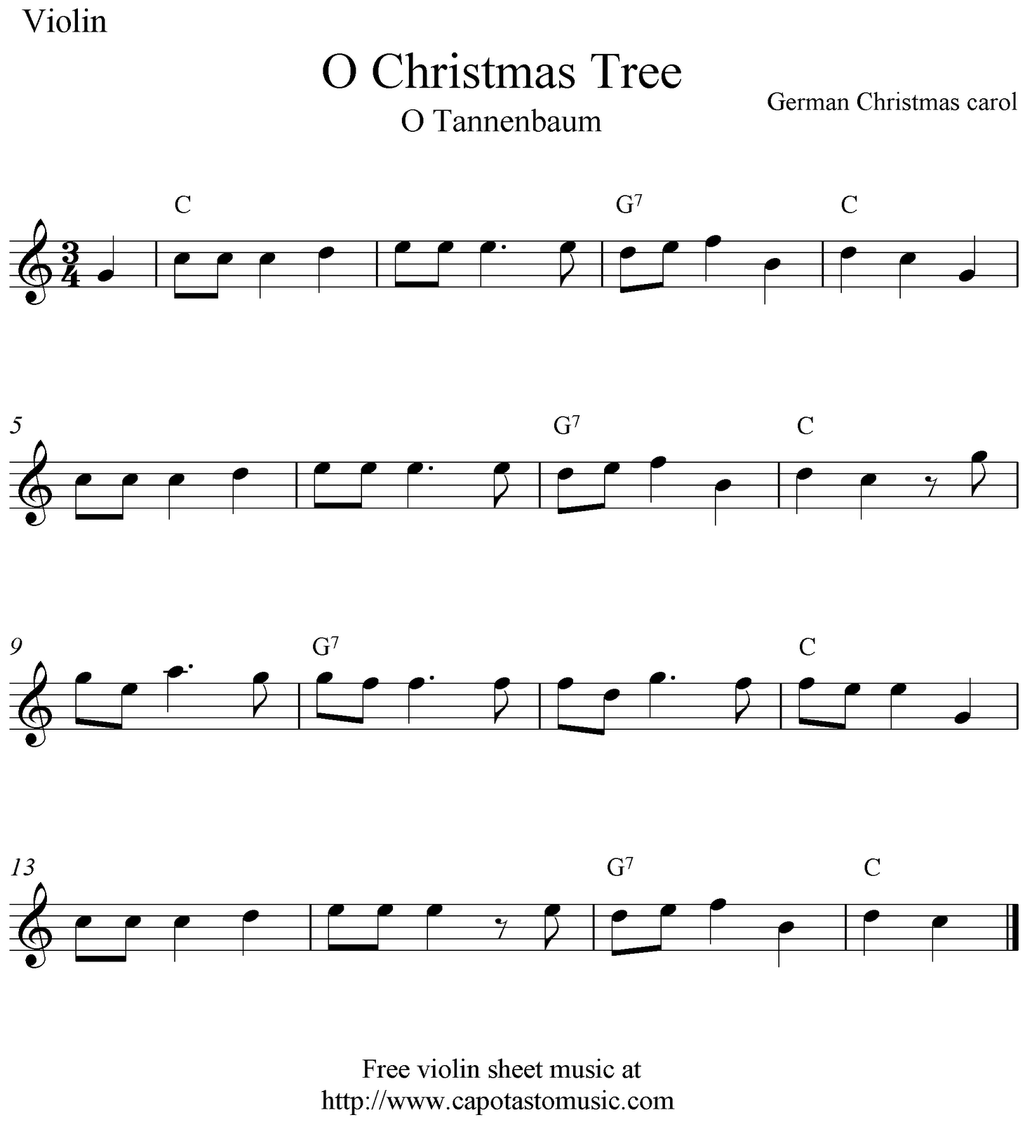 Free Sheet Music Scores: O Christmas Tree (O Tannenbaum), free ...