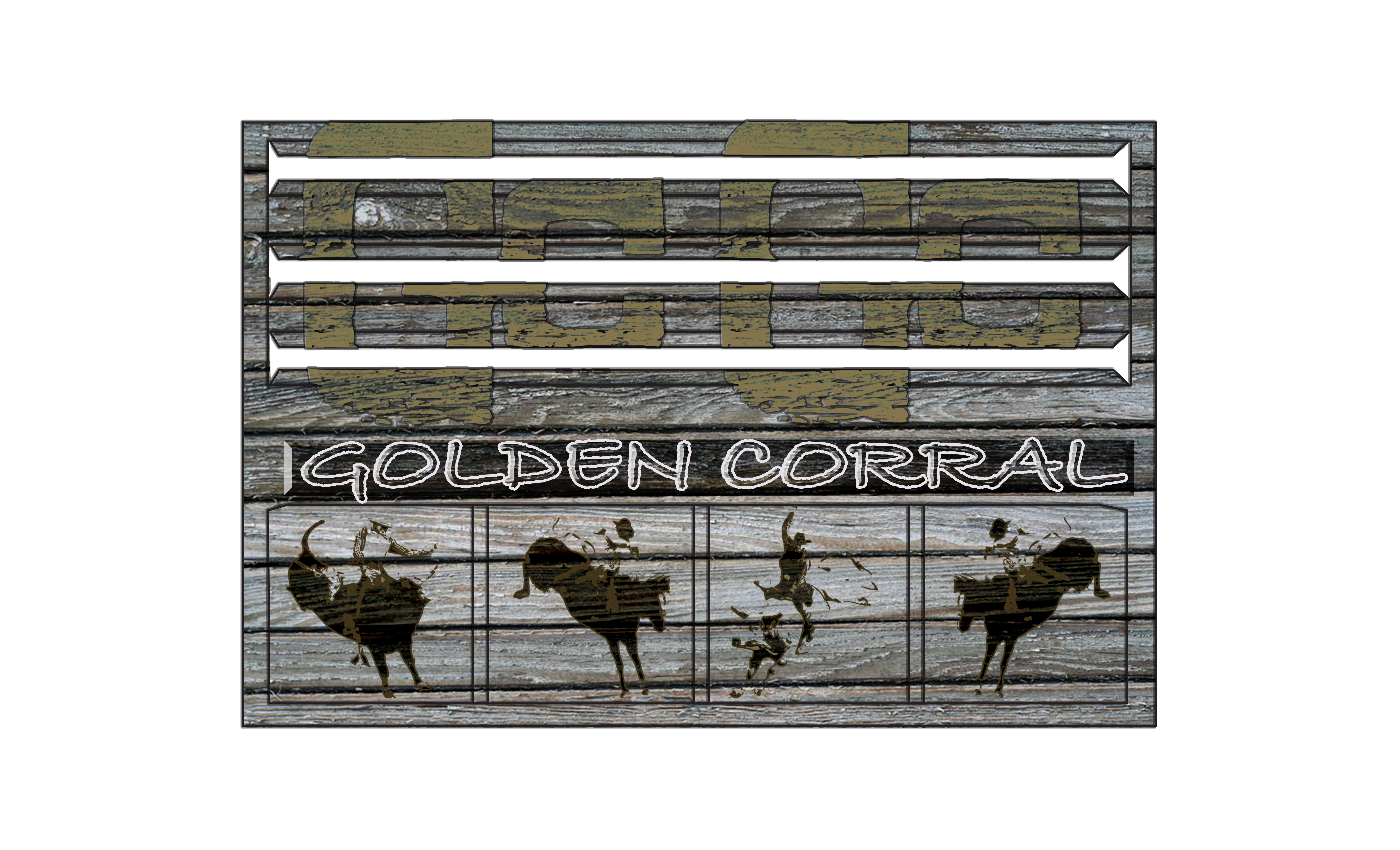 This Is A Remake Of The Golden Corral Restaurant Logo To Given It A More Western American Theme Logo Restaurant American Theme Design