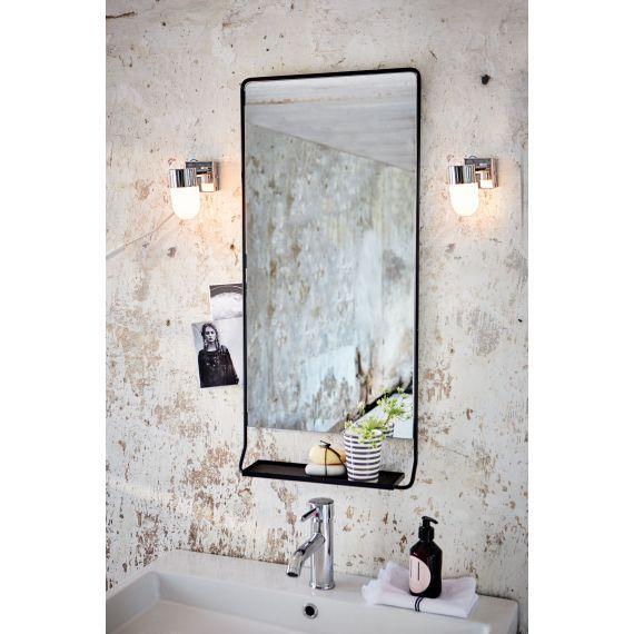 Badspiegel, kleine Ablage, Industrial-Look, Metall Jent - badezimmerspiegel mit ablage