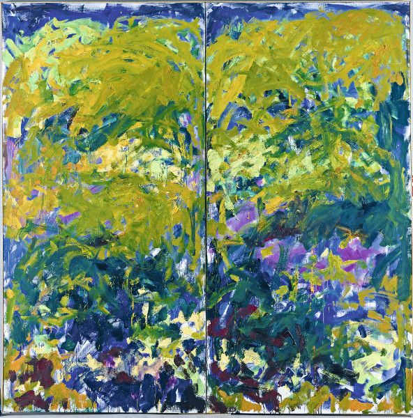 Joan Mitchell La Grande Vallee Ix 1983 1984 Autour De Claude Monet 27 Mars 1er Novembre 2015 Joan Mitchell Abstract Artists Nature Art
