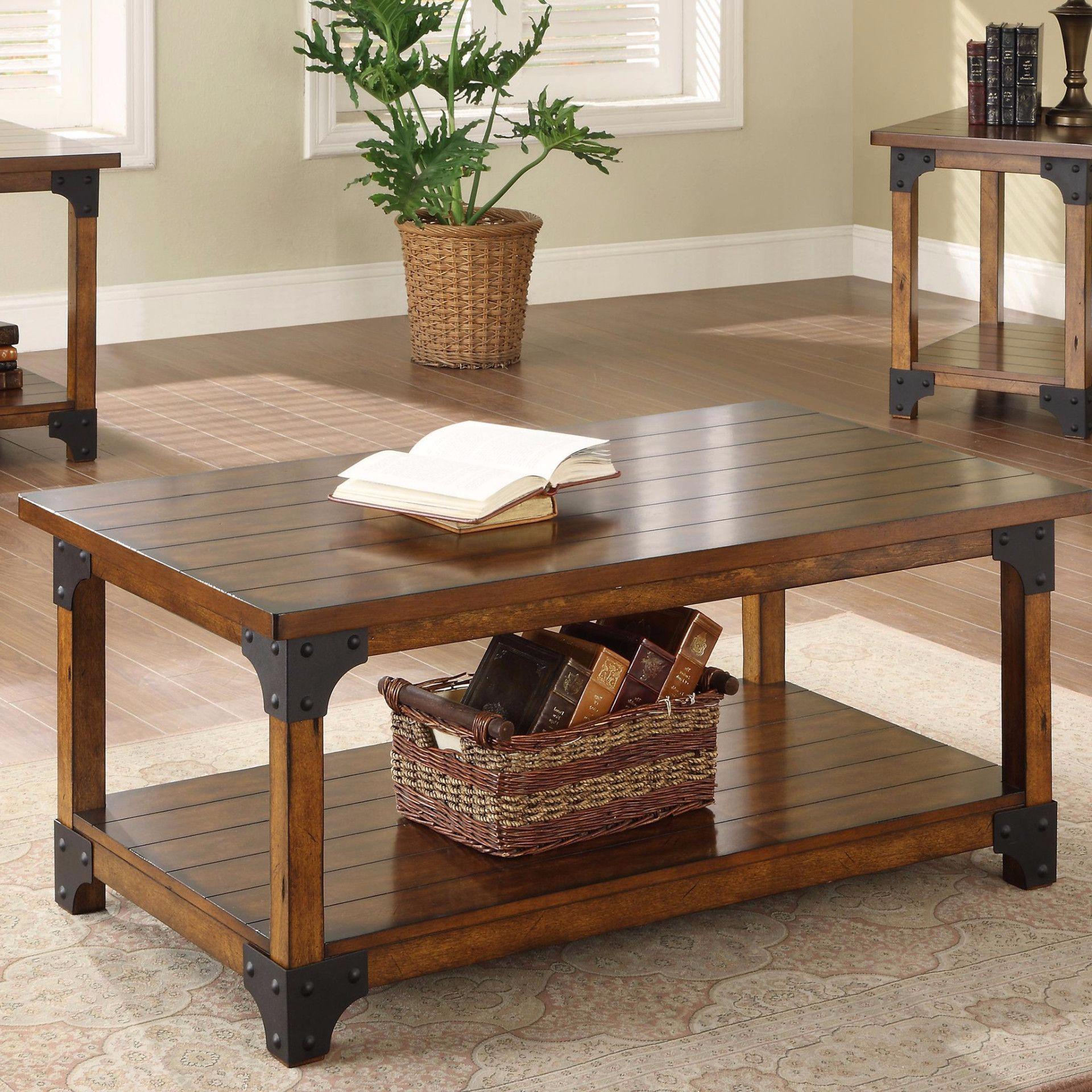 William 3 Piece Set Rustic Oak Coffee Table 3 Piece Coffee Table Set Oak Coffee Table [ 1920 x 1920 Pixel ]