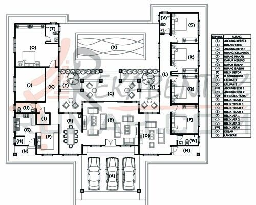 Single Storey Bungalow Layout House Plans Layout House Design