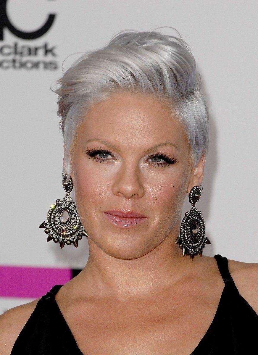 Pink Aka Alecia Moore Silver Grey Hair My Gray Hair Pinterest - Silver hair styles