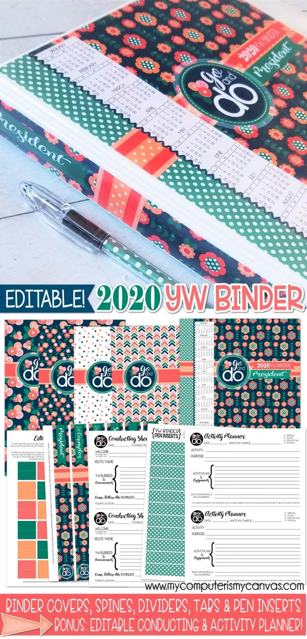 2020 YW Binder Printables | Go & Do Theme Printables Ideas #presidents