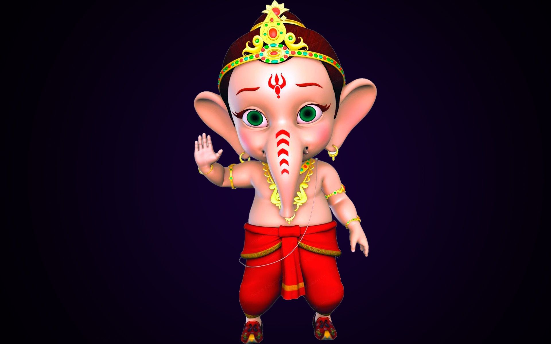 Bal Ganesh Animation Hd Wallpaper Beautiful Hd Wallpaper Wallpaper