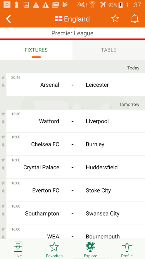 Futbol24 Soccer Live Scores Results Apps On Google Play League Table Premier League Fixtures Live Matches