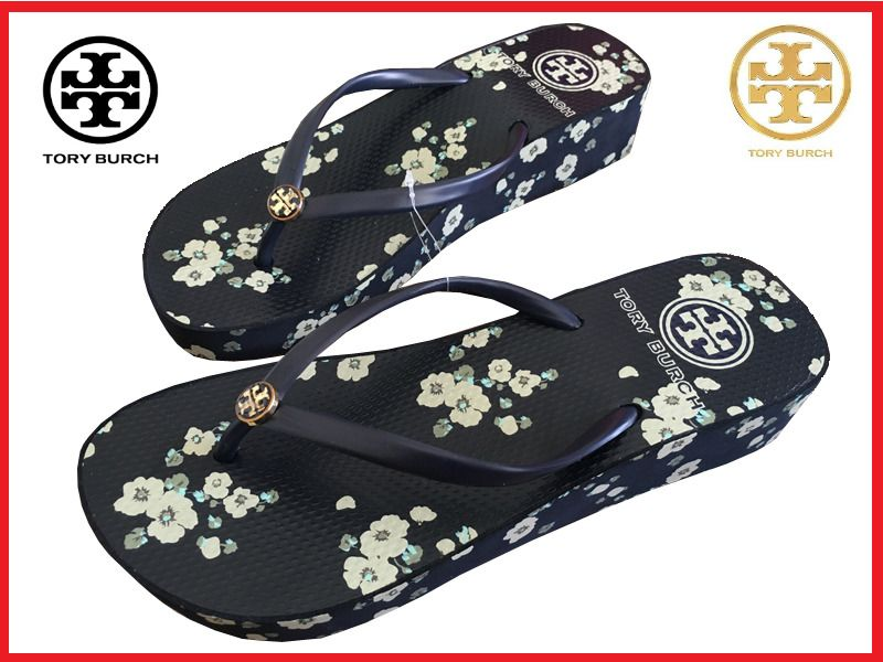 1f37d916a76fc0 TORY BURCH Flip Flops White Flower Wedge New Beach Logo Sandals Summer  WOMEN S  ToryBurch  FlipFlops  BeachPool