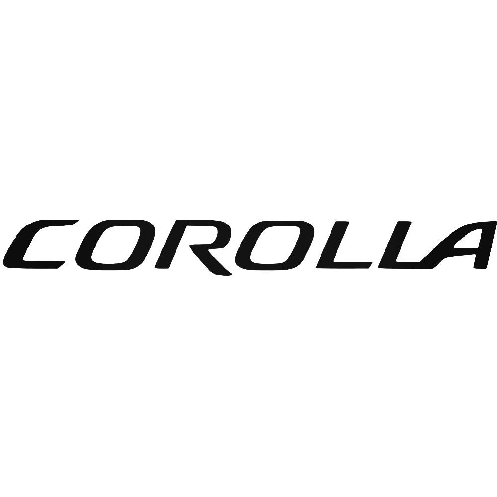 Corolla aftermarket logo graphic vinyl decal sticker ballzbeatz com