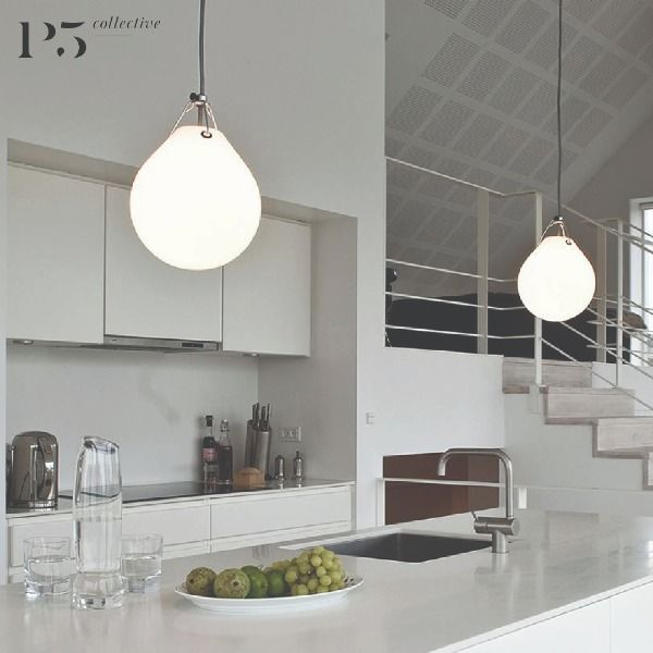 $475 - The fixture emits diffuse light and the thickness of the glass results in very comfortable light distribution. #homeanddecor #affordableluxury #design #lighting #light #furniture #interiordesign #designerfurniture #homeliving #lamp #sgfurniture #P5Studio #P5Collective #P5Luminaire #LouisPoulsen