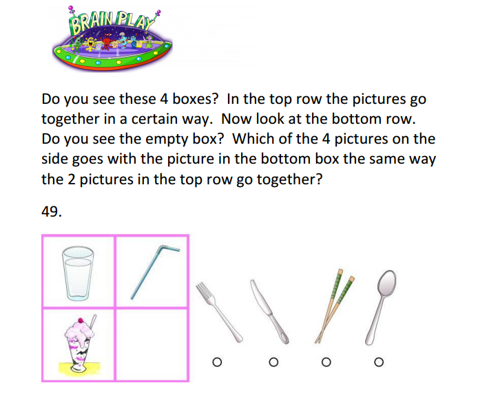 the wechsler preschool and primary scale of intelligence practice matrix question for the wppsi iv wechsler 421