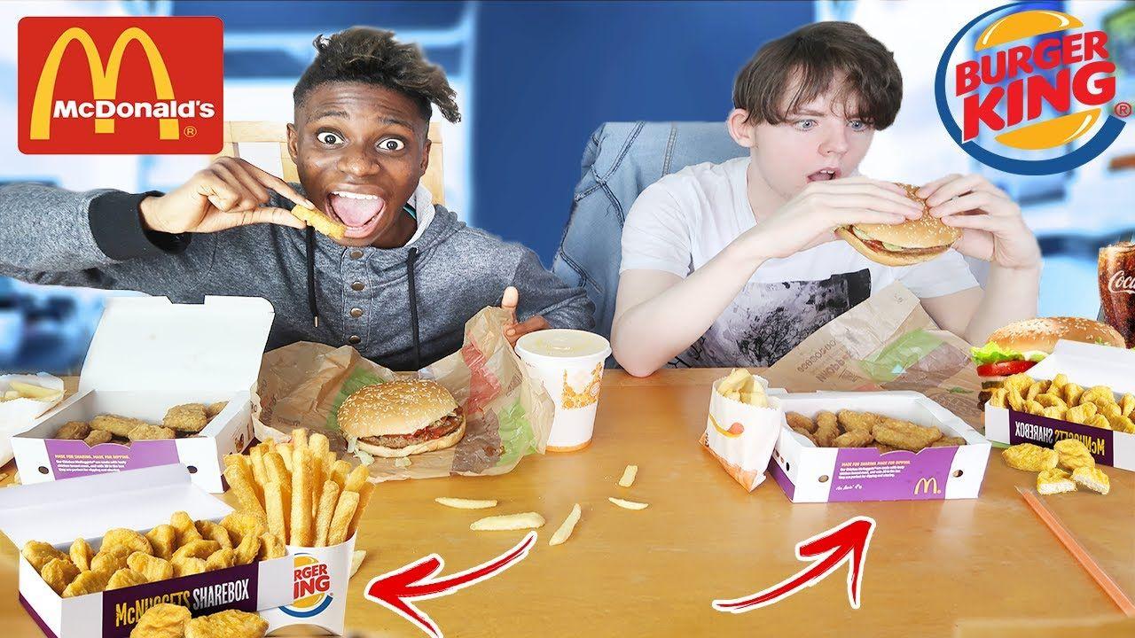 mcdonalds and burger king food eating challenge vs best