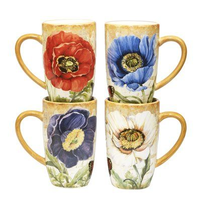 7fbff7350d5 August Grove Gautreaux 4 Piece Coffee Mug Set | Products in 2019 ...