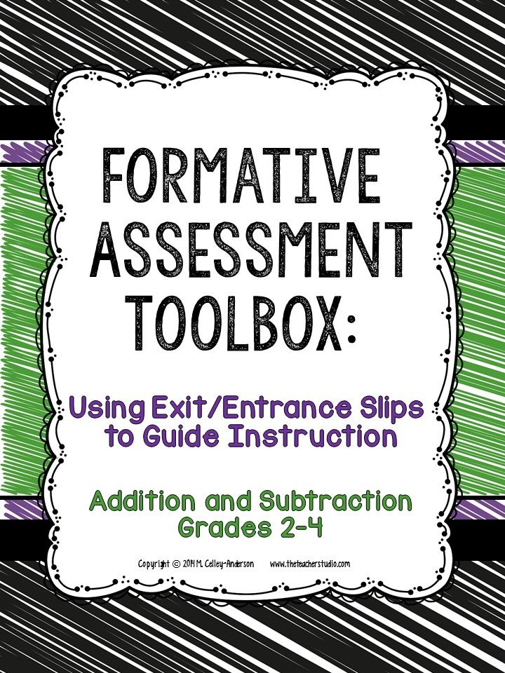 Formative Assessment Toolbox Addition and Subtraction Grades 2-4 - formative assessment strategies