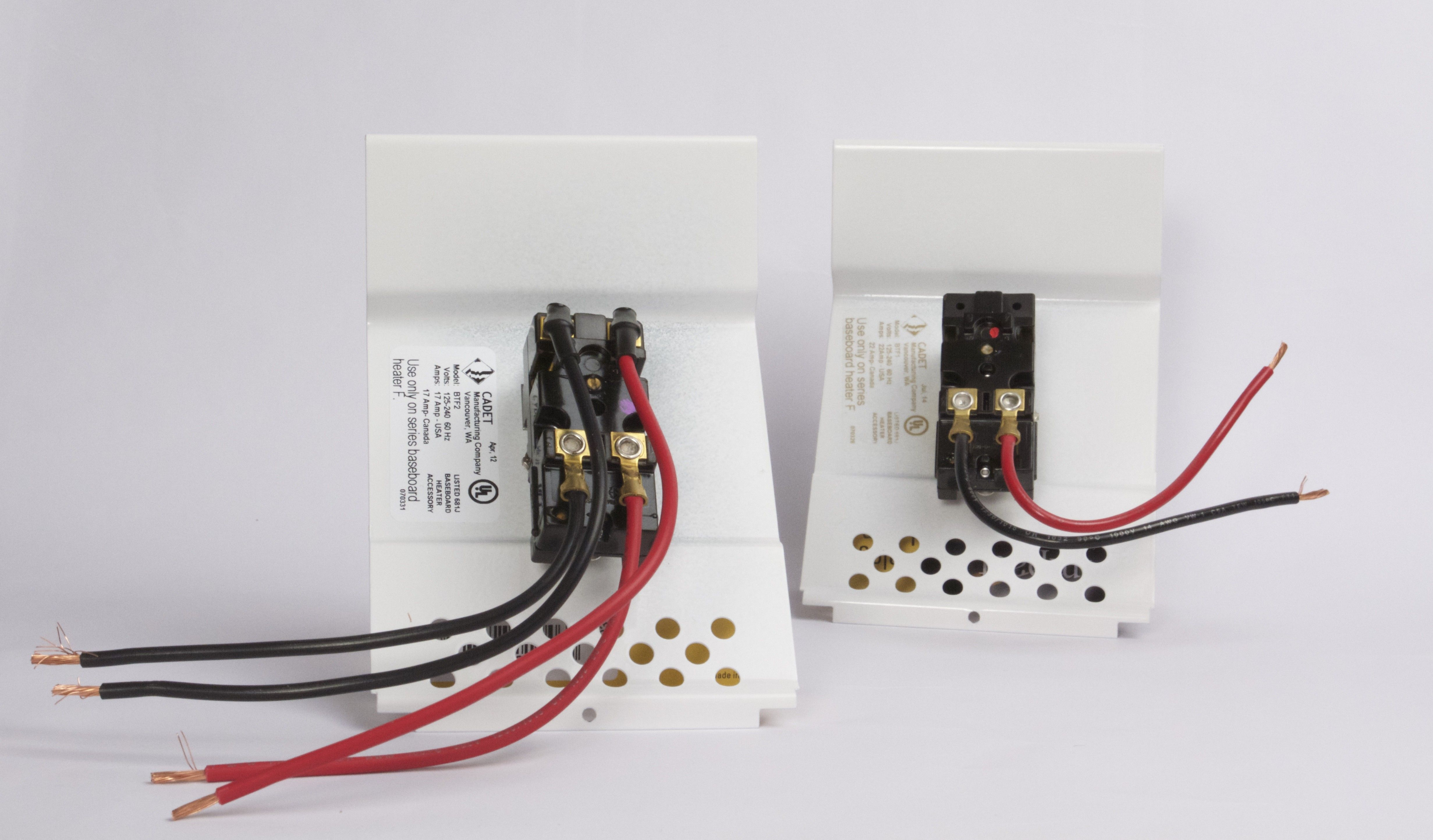New Wiring Diagram for thermostat On Baseboard Heater (con