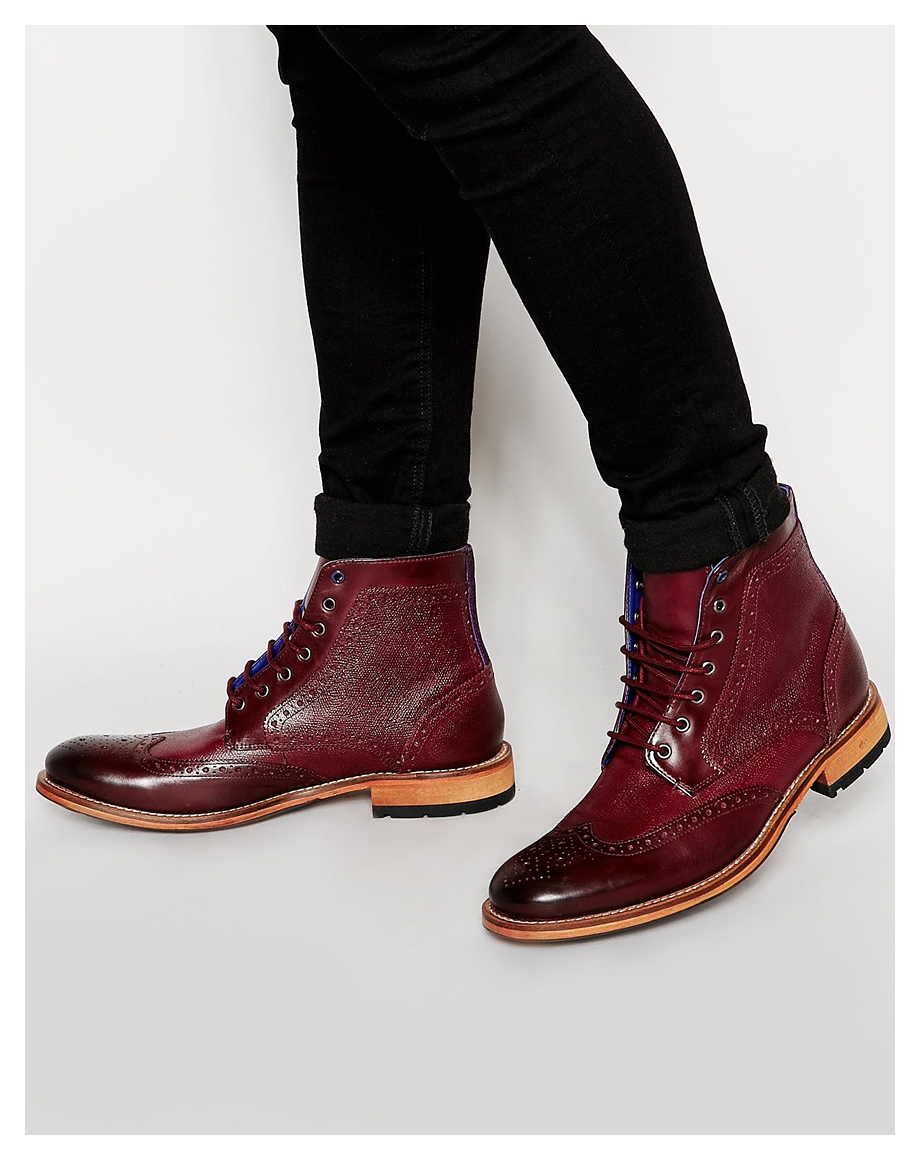 Ted Baker Sealls Leather Brogue Boots