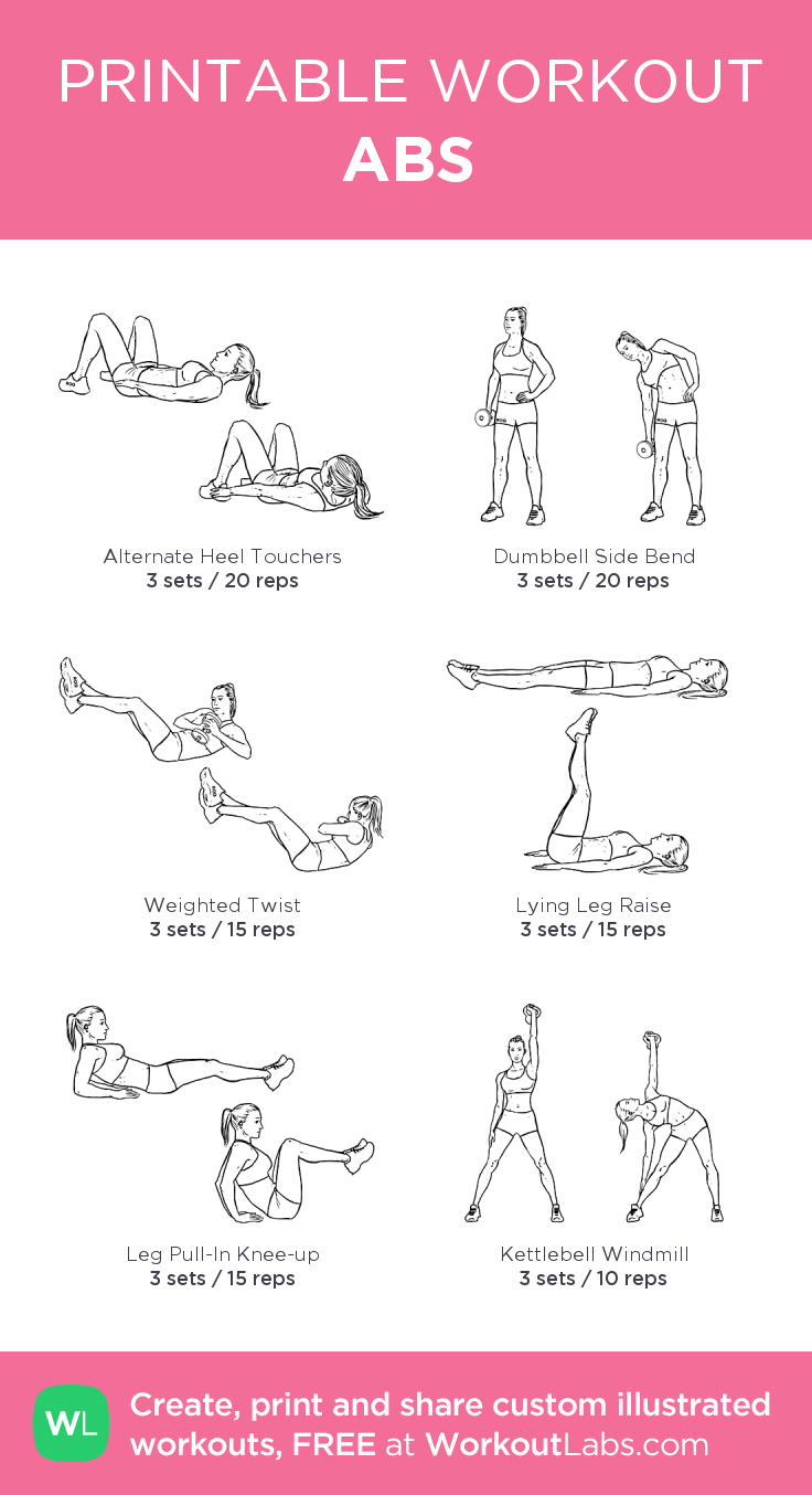 graphic about Printable Ab Workout identified as Ab muscles: my custom made printable training by means of @WorkoutLabs