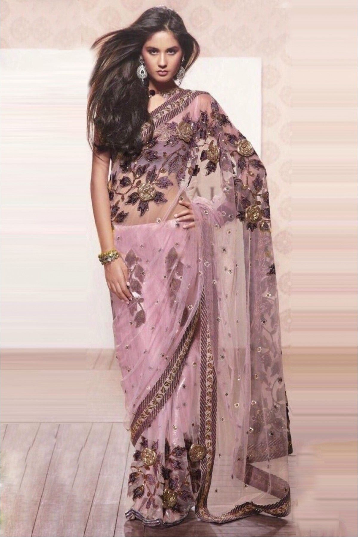 Style Model Georgette Party Wear Saree In Pastel Violet Colour NC3304