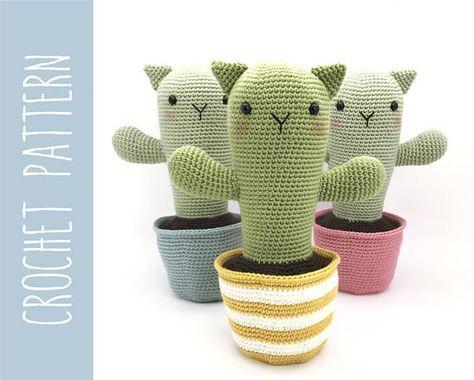 Amigurumi Cactus Crochet Pattern : Cactus crochet amigurumi pattern crochet cactus cat catcus