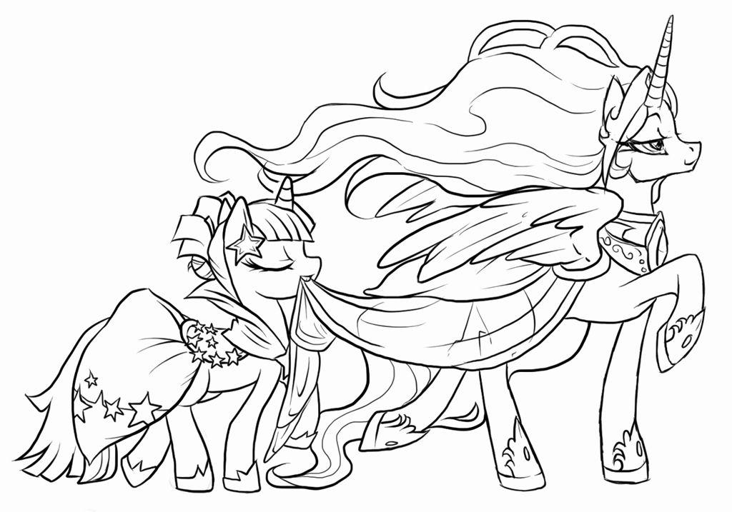 Princess Celestia Coloring Page Unique Princess Celestia And Princess Twilight Sparkle By Princess Coloring Pages My Little Pony Coloring Princess Coloring