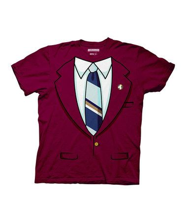 This Maroon Burgundy Suit Tee - Men is perfect! #zulilyfinds