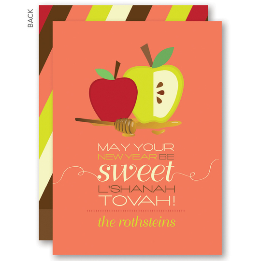 Honey Apples Jewish New Year Cards New year card, New