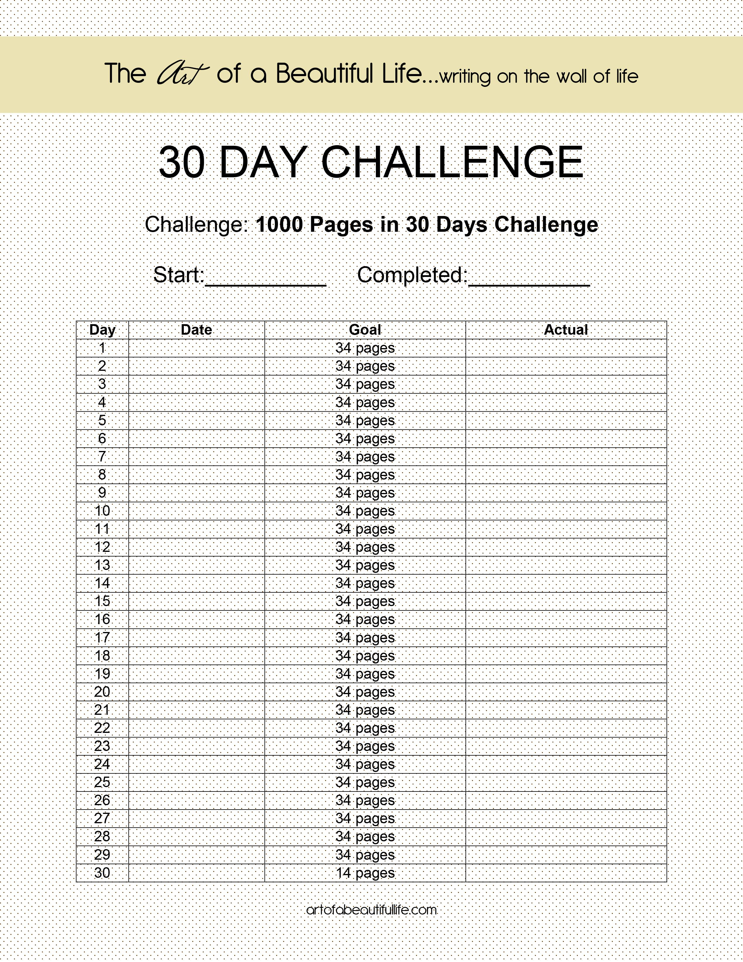 Pin On 30 Day Challenges For Life Changing Momentum